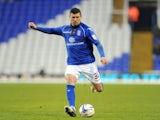 On-loan Birmingham defender Paul Robinson in action against Brighton on January 19, 2013
