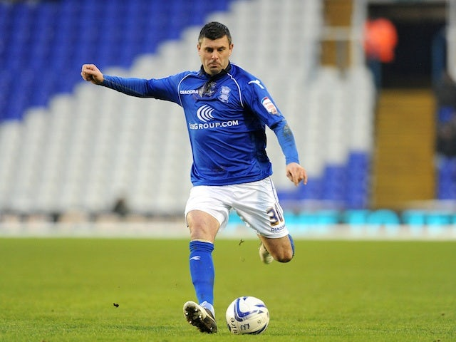 On-loan Birmingham defender Paul Robinson in action against Brighton on January 19, 2013