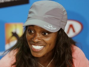 US player Sloane Stephens smiles during her press conference, after her quarter-final win over Serena Williams on January 23, 2013