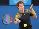 Britain's Andy Murray in action in his semifinal match against Roger Federer at the Australian Open tennis championship on January 25, 2013