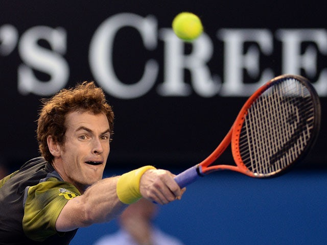 Britain's Andy Murray in action during the men's final of the Australian Open tennis championship on January 27, 2013