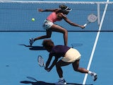 The Williams sisters in action at the Australian Open tennis championship on January 22, 2013