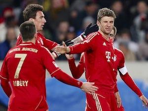 Muller scores hat-trick in German Cup