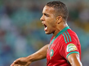 Morocco's Youssef El Arabi celebrates scoring the equaliser in the Africa Cup of Nations match against the Cape Verde Islands on January 23, 2013