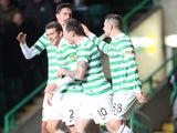 Celtic's Adam Matthews is congratulated on a goal against Kilmarnock on January 30, 2013