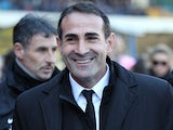 Juventus boss Angelo Alessio smiles prior to kick-off against Chievo Verona on February 3, 2013