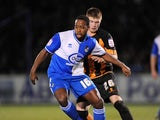 Bristol Rovers player Joe Anyinsah during his sides match with Barnet on February 1, 2013