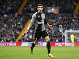 Gareth Bale celebrates after scoring the winner against West Brom on February 3, 2013