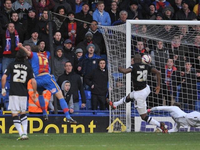 Palace striker Glen Murray scores against Charlton on February 2, 2013