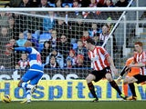 Reading's Jimmy Kebe opens the scoring against Sunderland on February 2, 2013