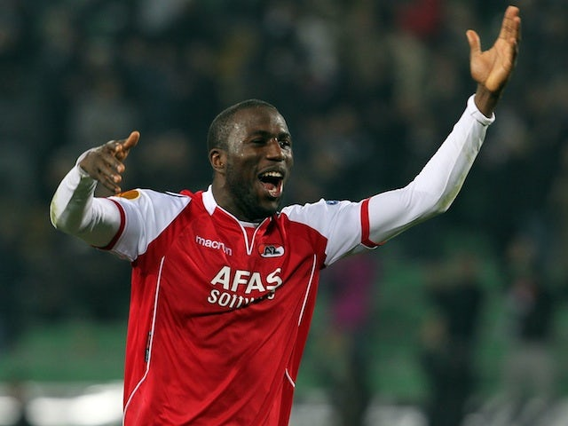 AZ forward Jozy Altidore celebrates after victory over Udinese on March 15, 2012