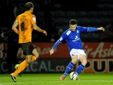 Leicester City's David Nugent score his sides second goal against Wolverhampton Wanderers on January 31, 2013
