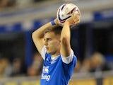 Everton's Luke Garbutt in action against Leyton Orient on August 29, 2012