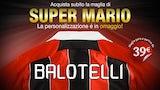 Poster for Mario Balotelli's AC Milan shirt
