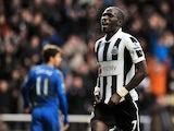 Newcastle's Moussa Sissoko celebrates his goal against Chelsea on February 2, 2013