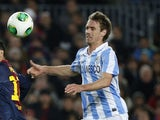 Malaga player Nacho Monreal during his team's match against Barcelona on January 16, 2013
