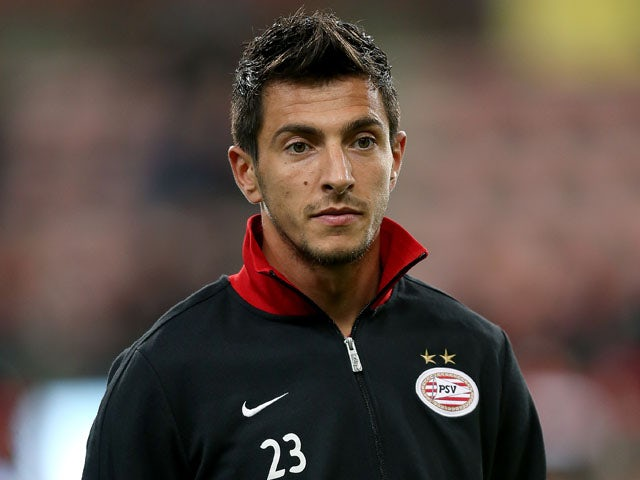 PSV Eindhoven player Stanislav Manolev before his sides match with AIK on October 25, 2012