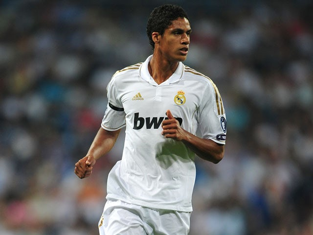 Real Madrid player Raphael Varane during his team's match with Ajax on September 27, 2011