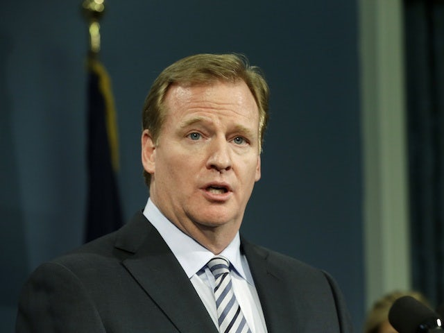 NFL commissioner Roger Goodell during a press conference on January 24, 2013