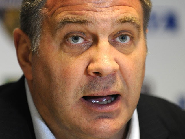 Wigan Warriors head coach Shaun Wane at a press conference on February 26, 2012