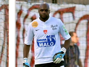 Lille keeper Steeve Elana when playing for Brest, against Nice on August 27, 2011