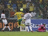 South Africa's Tokelo Rantie scores a quarter-final goal against Mali on February 2, 2013