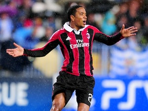 Milan's Urby Emanuelson in action against Malaga on October 24, 2012
