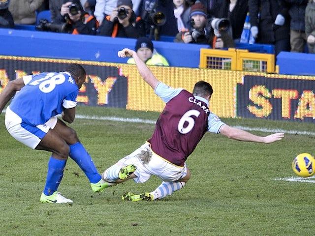 Everton forward Victor Anichebe equalises against Aston Villa on February 2, 2013