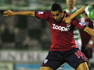 West Brom's Yassine El Ghanassy in action against Yeovil on August 28, 2012