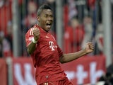 Bayern's David Alaba celebrates after scoring for his side in their match against Schalke on February 9, 2013