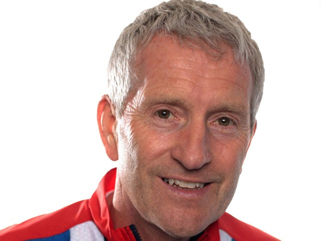 Swimming coach Bill Furniss during a London 2012 kitting out session on June 29, 2012