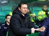 Ross County manager Derek Adams on the touchline against Celtic on December 22, 2012