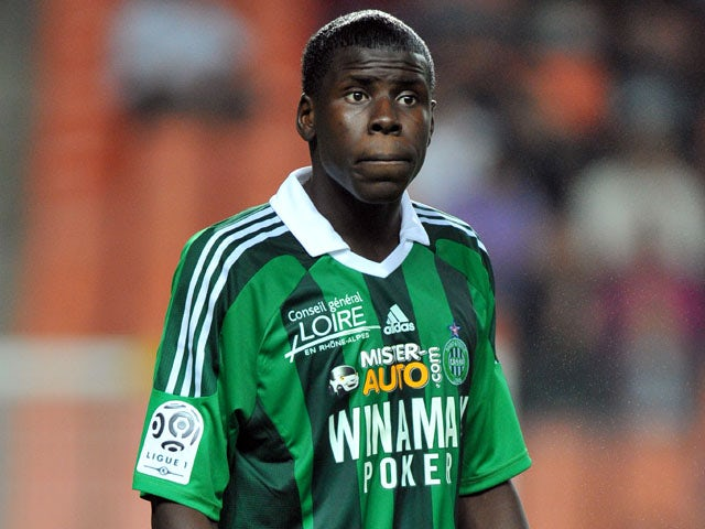 St Etienne player Kurt Zouma during a match on October 1, 2011