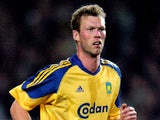 Morten Wieghorst during a Brondby game on March 3, 2004