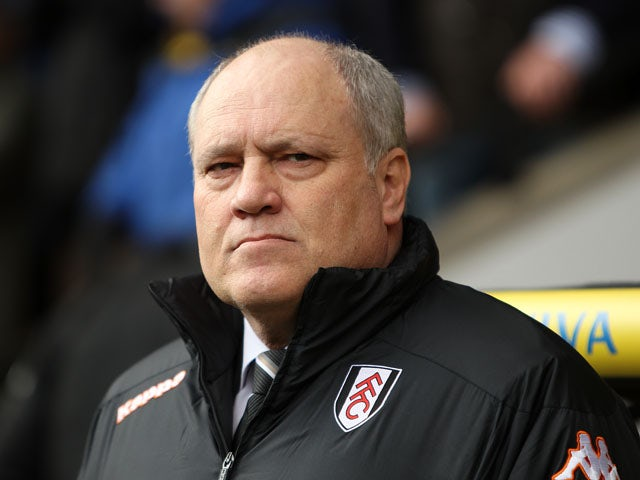 Fulham manager Martin Jol before his sides match against Norwich on February 9, 2013