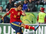 Spain's Oliver Torres has a shot during the UEFA European Under-19 Championship on July 15, 2012