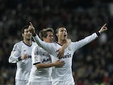 Real Madrid's Cristiano Ronaldo celebrates scoring against Sevilla on February 9, 2013