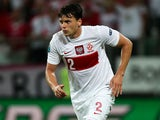 Poland's Sebastian Boenisch on the ball during his side's match with Czech Republic on June 16, 2012
