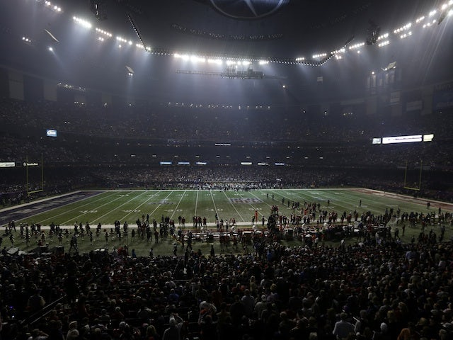 The Superdome in darkness