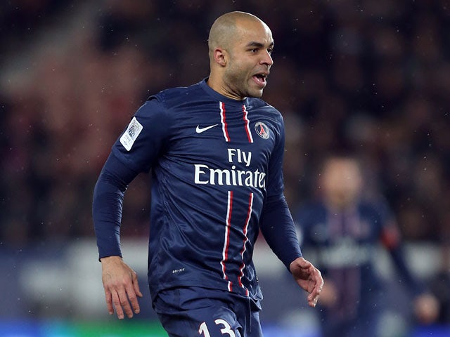 PSG defender Alex during his side's match against Bastia on February 8, 2013