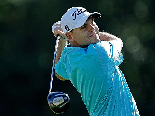 Bill Haas plays a shot during the Northern Trust Open on February 16, 2013