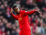 Daniel Sturridge celebrates after scoring his team's fifth goal against Swansea on February 17, 2013