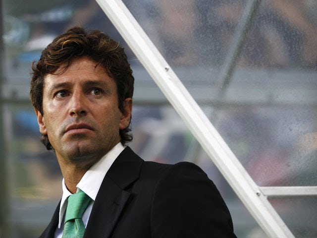 Sporting's Domingos Paciencia watches his team in action on July 30, 2011