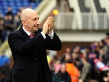 Crystal Palace boss Ian Holloway applauds fans before kick-off on February 16, 2013