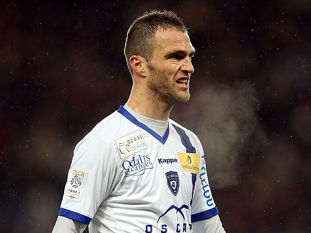 Bastia's Julien Sable in action on February 8, 2013