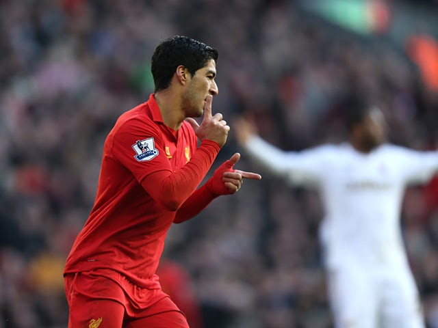 Team News: Suarez named on bench for Liverpool