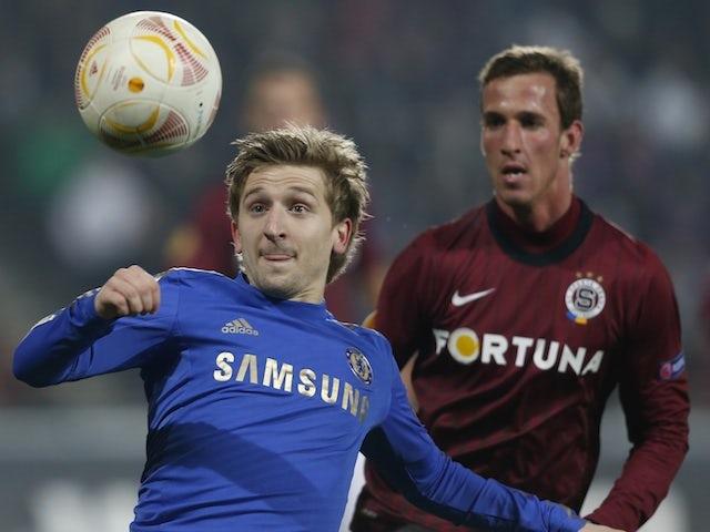 Chelsea's Marko Marin in action against Sparta Prague on February 14, 2013