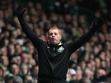 Celtic boss Neil Lennon on the touchline during the Champions League match against Juventus on February 12, 2013