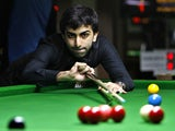 Pankaj Advani plays a shot on November 29, 2011