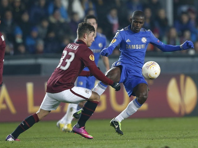 Chelsea's Ramires in action against Sparta Prague on February 14, 2013